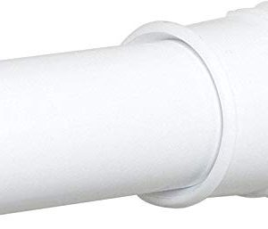 Zenna Home Stall Tension Shower Rod, 24-40 Inches, White