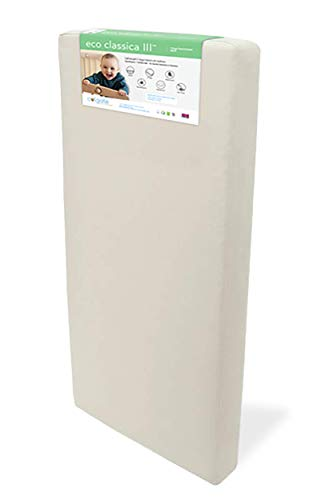 Eco Classica III 2-Stage Baby & Toddler Mattress by Colgate Mattress   Organic Waterproof Cotton Cover   Hypoallergenic   Eco-Friendly Foam   GREENGUARD Gold Certified
