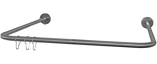 """Aberdeen Parts Store LLC 32"""" x 32"""" Removable Indoor/Outdoor Commercial Stainless Steel Curtain Shower Rod 2-Piece"""
