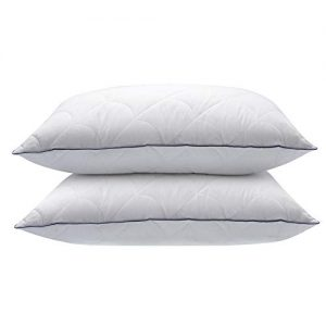 "Sable Queen Pillows, 2 Pack Hotel Bed Pillow with Adjustable Super Soft Plush Fiber Fill and Cotton Pillowcase, Machine Washable, Relief for Neck Pain, Good for Side or Back Sleeper, 30""×20"""