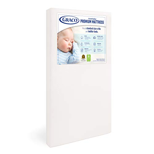 Graco Premium Foam Crib and Toddler Mattress in a Box – GREENGUARD Gold Certified, Non-Toxic, Breathable, Removable Washable Water Resistant Outer Cover