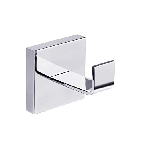 Alvada-direct Bath Towel Hook, Bath Robe Hook SUS304 Stainless Steel Square Wlall Hooks, Utility Coat Holder, Hand Towel Hanger,Wall Mounted Hook, Polished Chrome