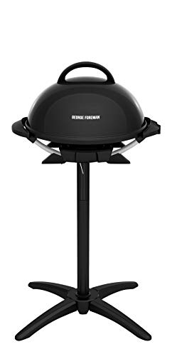 George Foreman GIO2000BK Indoor/Outdoor Electric Grill, 15-Serving, Black