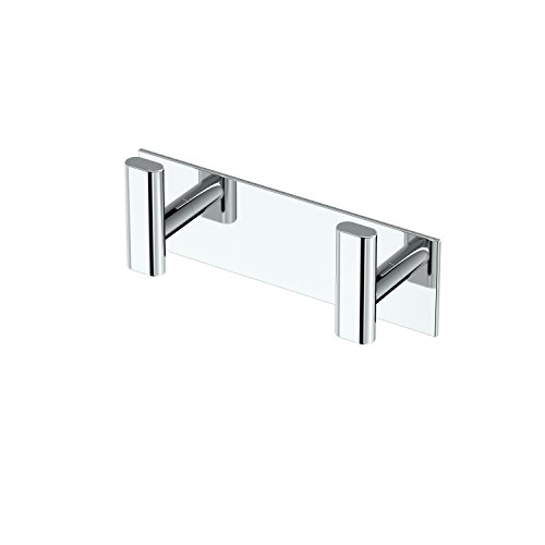 Gatco Elevate All Modern Décor Rectangle Double Hook, Chrome