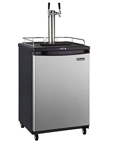 Kegco Z163S-2 Keg Dispenser, Two Faucet, Stainless Steel