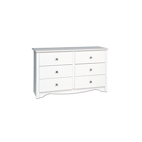 White Monterey Children's 6 Drawer Dresser