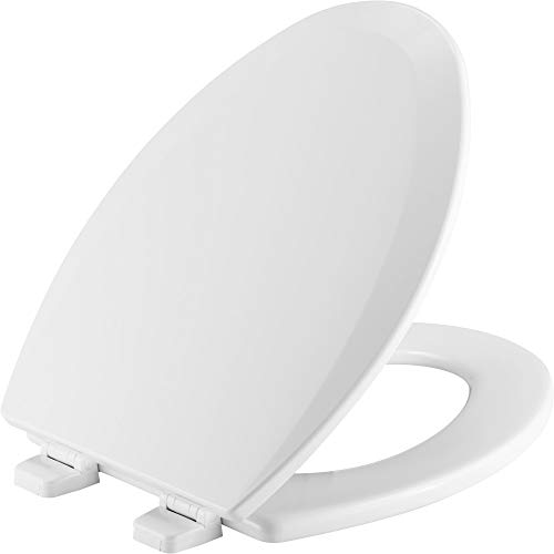 CHURCH 585TTT 000 Toilet Seat will Never Loosen and Provide the Perfect Fit, ELONGATED, White