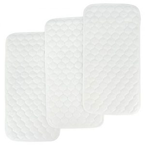 Bamboo Quilted Thicker Longer Waterproof Changing Pad Liners for Babies 3 Count by BlueSnail