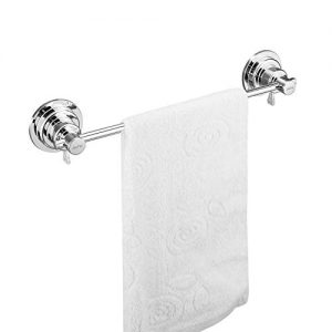 JIEPAI Suction Cup Towel Bar 18 Inch,Removable Vacuum Suction Towel Holder Suction Towel Rack