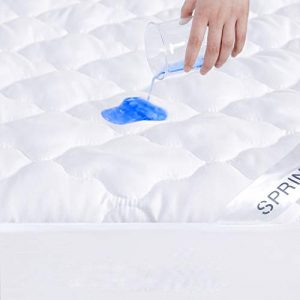 "Full Size Mattress Protector Waterproof, Breathable & Noiseless Full Mattress Pad Cover Quilted Fitted with Deep Pocket up to 12"" Depth (54""x 75"")"