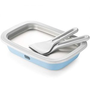 Klee 3-Piece Instant Ice Cream Maker Pan with Ice Cream Spade, Scraper and Recipes