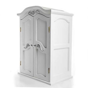 The Queen's Treasures Victorian Style Armoire. Storage Trunk Case Closet Compatible for use with 18 Inch American Girl Doll Furniture, Clothing & Accessories.