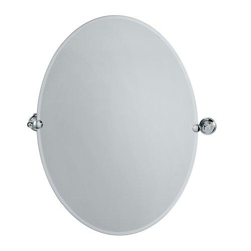 Gatco 4329LG Tiara Large Oval Wall Mirror, Chrome