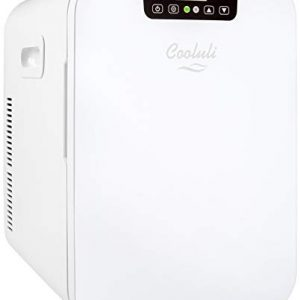 Cooluli Concord White 20 Liter Compact Cooler Warmer Mini Fridge for Bedroom, Office, Car, Dorm - Portable Makeup Skincare Fridge with Digital Temperature Control