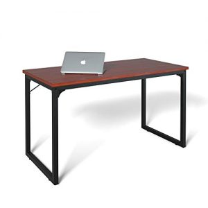 "Coleshome Computer Desk 39"", Modern Simple Style Desk for Home Office, Sturdy Writing Desk,Teak"