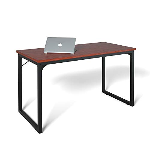 "Coleshome Computer Desk 39"", Modern Simple Style Desk for Home Office, Sturdy Writing Desk,Teak"