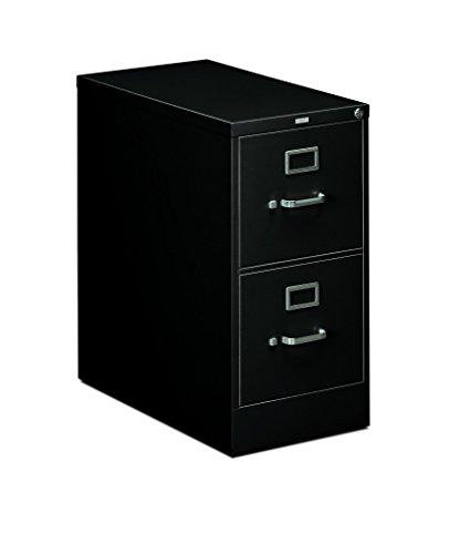 "HON 2-Drawer Office Filing Cabinet - 310 Series Full-Suspension Letter File Cabinet, 26.5""D, Black (H312)"