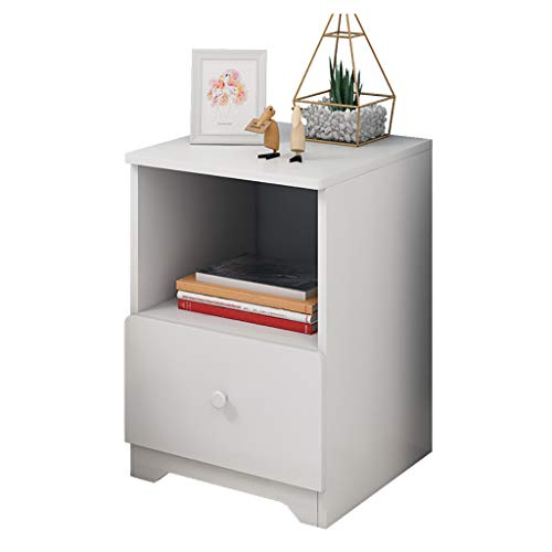 Nightstand with Drawer - Bedside Furniture & Night Stand End Table Dresser Nightstand with Drawer - Bedside Furniture & Night Stand End Table Dresser for Home, Bedroom Accessories, Office Assemble Storage Cabinet (White).