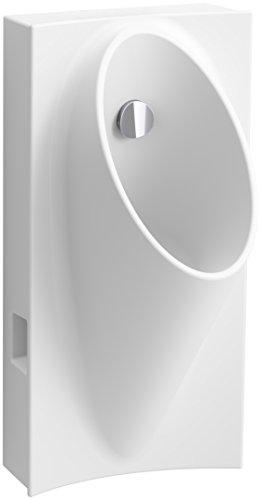 "KOHLER 5244-ER-0 Steward Hybrid High-Efficiency Urinal with 1/2"" Flexible Rear Supply Hose, White"