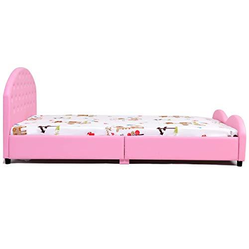 HONEY JOY Kids Bed, Upholstered Platform, Wood Princess Bedframe Package deal Dimensions: 80.zero x 39.5 x 32.zero inches