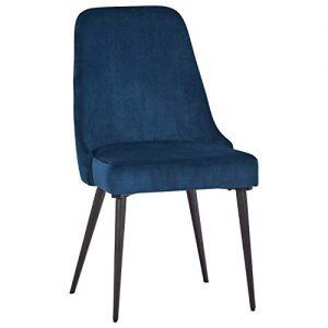 "Amazon Brand – Rivet Modern Foam-Padded Dining Chair, Set of 2, 35.25""H, Blue"