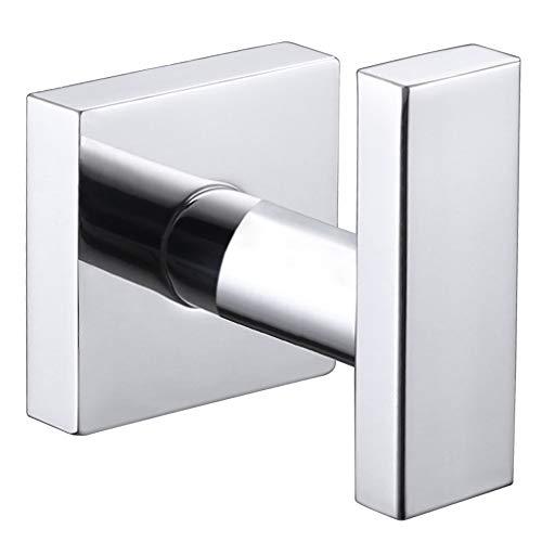 Bathroom Towel Hook, Angle Simple SUS304 Stainless Steel Bath Towel Holder, Heavy Duty Garage Wall Hook, Single Robe Coat Hook Polished Chrome