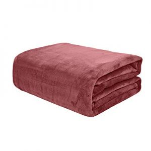 KMUSET Fleece Blanket Twin Size Coral Lightweight Super Soft Cozy Luxury Bed Blanket Microfiber