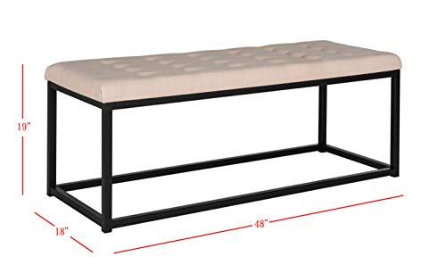 Safavieh Home Collection Reynolds Beige and Black Bench Package deal Dimensions: 48.zero x 18.zero x 19.zero inches