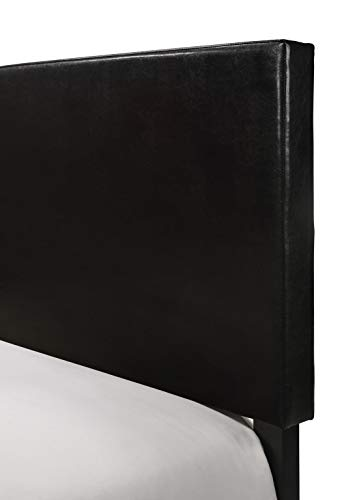 Crown Mark Erin Upholstered Panel Bed in Black, Queen Bundle Dimensions: 86.6 x 64.Four x 50.Zero inches
