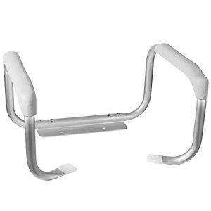 DMI Toilet Safety Rails, Toilet Grab Bars, Toilet Safety Handrails, Easy Assembly with no Tools, White