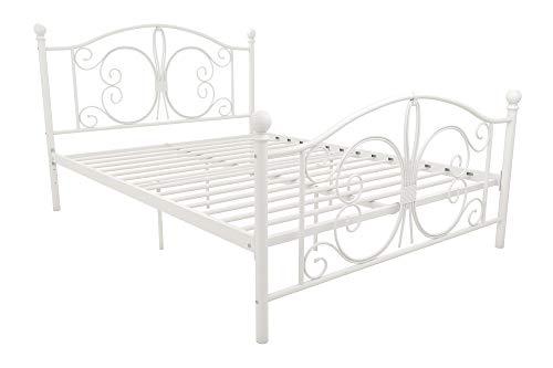 DHP 3246198 Vintage Design Bombay Bed Frame, Full, White