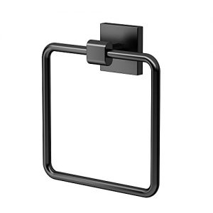 Gatco 4052MX Elevate Bathroom Towel Ring Holder, Matte Black