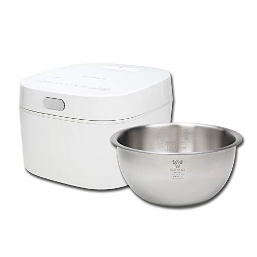 Buffalo White IH SMART COOKER, Rice Cooker and Warmer, 1 L, 5 cups of rice, Non-Coating inner pot, Efficient, Multiple function, Induction Heating (5 cups)