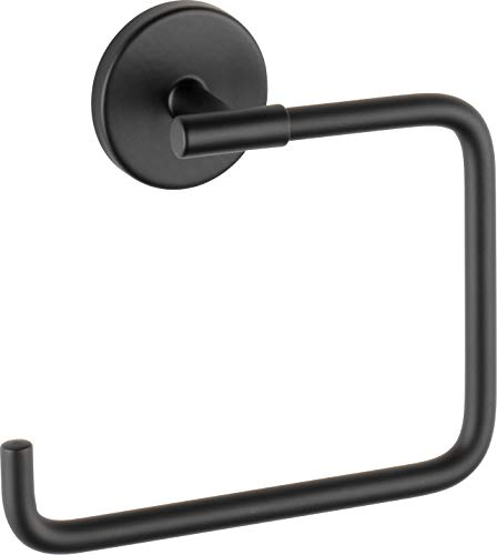 Delta 759460-BL Trinsic Towel Ring, Matte Black