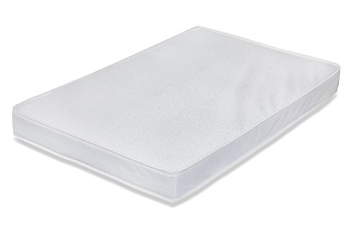 """LA Baby Waterproof Portable/Mini Crib Mattress, 3"""" - Made in USA with Triple Laminated, Easy to Clean, Hypo-Allergenic, Anti-Microbial & Non-Toxic Cover, 24 x 38 - Made in USA"""