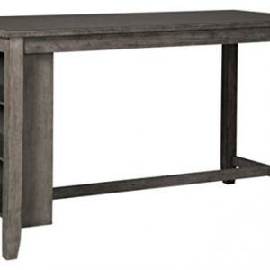 Signature Design by Ashley - Caitbrook Rectangular Dining Room Table - Counter Height - 3 Shelves - Gray