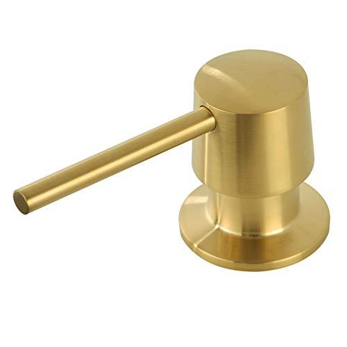 Avola Soap Dispenser,Brass Built in Soap Dispensers Dispenser,Brushed Gold in Sink Liquid Dish Soap Dispensers,Kitchen Soap Dispenser with 13 Ounce Soap Bottle