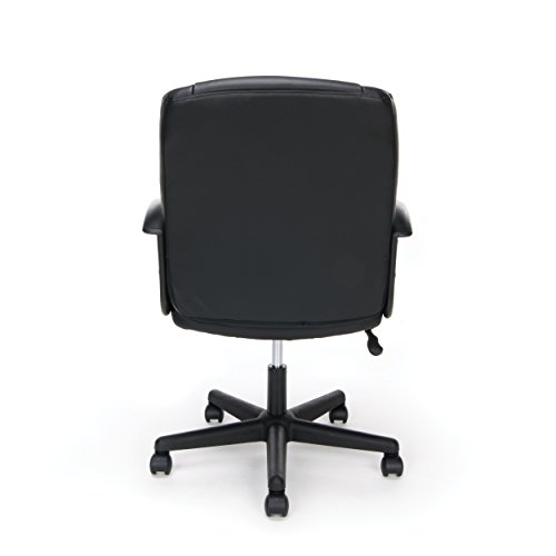 OFM Essentials Collection Executive Office Chair, Bonded Leather Guarantee: Necessities by ofm three 12 months restricted guarantee.