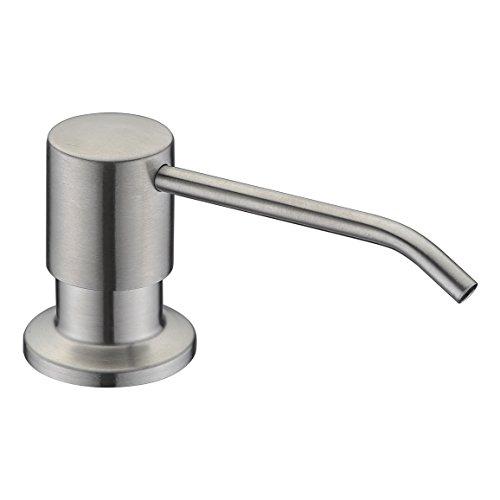 Soap Dispenser, WENKEN Stainless Steel Built in Pump Kitchen Soap Dispenser, Large Capacity 17 OZ Bottle Soap Dispenser for Kitchen Sink Brushed Nickel