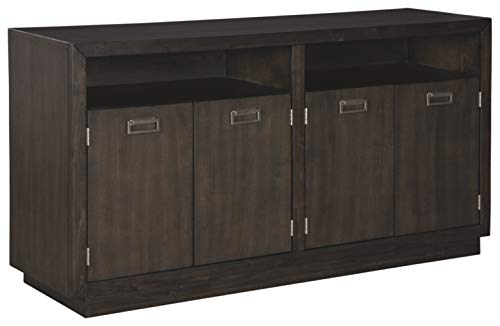 Signature Design By Ashley - Hyndell Dining Room Server - Contemporary Style - Dark Brown