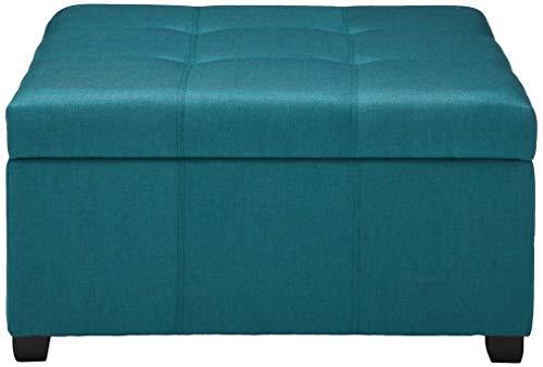 Christopher Knight Home Carlsbad Fabric Storage Ottoman, Dark Teal