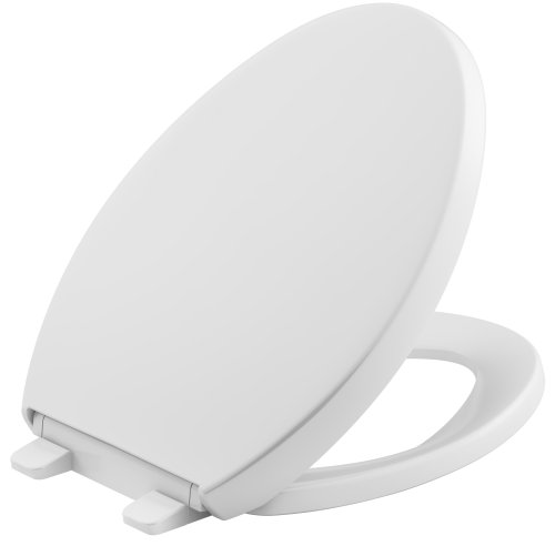 KOHLER K-4008-0 Reveal Quiet-Close with Grip-Tight Bumpers Elongated Toilet Seat in White