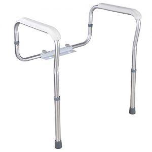AW Adjustable Toilet Safety Frame Rail 375lbs Grab Bar Support Assist for Elderly Seniors Handicap Disabled