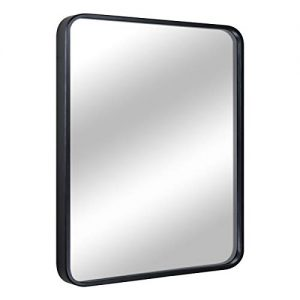 "EPRICA Bathroom Mirror for Wall, Large Wall Mirror, Black Rectangle Mirror, 1"" Metal Framed Mirror for Home Decor, Hangs Horizontal or Vertical (24"" x 32"")"