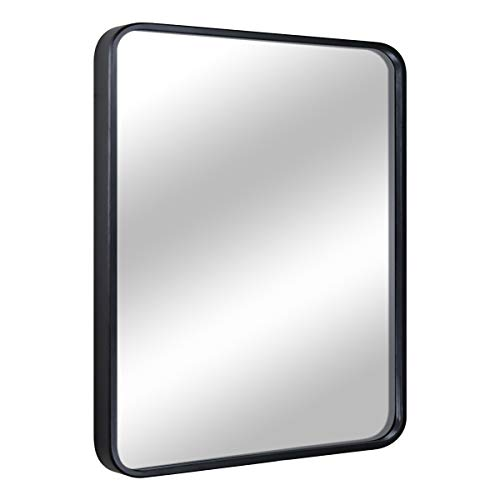 """EPRICA Bathroom Mirror for Wall, Large Wall Mirror, Black Rectangle Mirror, 1"""" Metal Framed Mirror for Home Decor, Hangs Horizontal or Vertical (24"""" x 32"""")"""