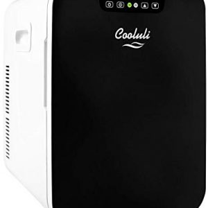 Cooluli Concord 20-liter Compact Cooler/Warmer Mini Fridge/Wine Cooler with Digital Thermostat + Dual-Core Cooling for Cars, Road Trips, Homes, Offices & Dorms (Renewed)