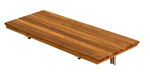 "Teakworks4u 24""x12.5"" Teak Shower Bench Seat | Wall Mount | Fold Down"