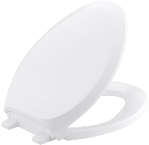 KOHLER K-4713-0 French Curve Quiet-Close with Grip-Tight Bumpers Elongated Toilet Seat, White