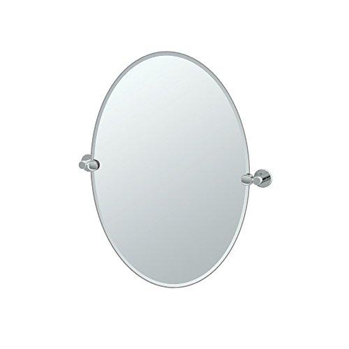 Gatco 4689 Channel Oval Mirror Chrome, 26.5 H x 24 W