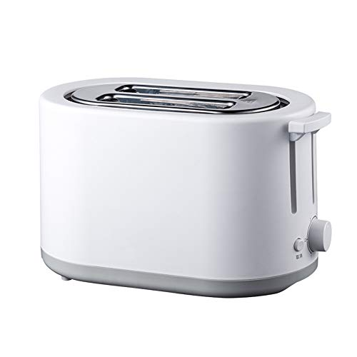 LHWSN 2 Slice Toaster, Toaster Stainless Steel,750W Bread Toaster With Defrost/Reheat/Cancel Function, 6 Browning Setting,Removable Crumb Tray,White